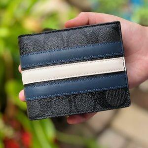 ⚡️SALE⚡️NWT Coach men compact ID wallet